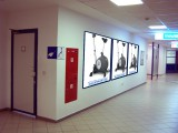 Hall of the first floor opposite wall wardrobe (Posters in baguette) 1.8 x 1.8 m